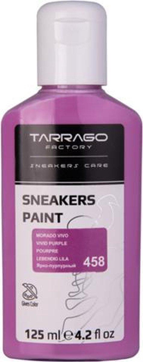 Tarrago Sneakers Verf 125ml - Levendig Paars #458| Voor glad leer, synthetisch leer en canvas