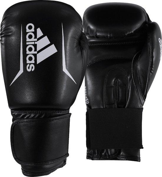 Adidas Speed 50 - Bokshandschoenen - Zwart/Wit - 12oz