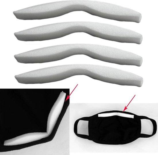 Neuspad 3D - 20 stuks - ZONDER mondmaskers - vermindering condens - voor brildragers - wit