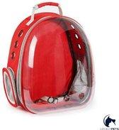 Lovely Pets - Draagtas voor (kleine) honden- rugtas voor huisdieren - reismand - transporttas - vervoersbox - dieren draagtas -  en katten -Rood