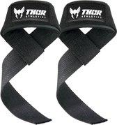 Thor Athletics - Lifting Straps Zwart - Krachttraining Accessoires - Powerlifting - Bodybuilding
