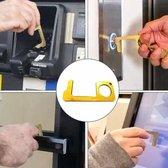 No Touch Cleankey Pinnen Hygiëne sleutel | geen contact sleutel |Key Smart Bacterie sleutel | Metaal