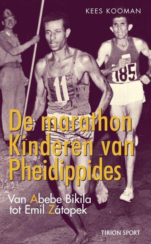 Cover van het boek 'De marathon. De kinderen van Pheidippides' van Kees Kooman
