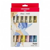 Amsterdam Acrylic Set 12 x 20 ml Pastel Colors