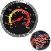 Barbecue thermometer / temperatuurmeter voor bbq , smoker , rookoven, pizzaoven/ RVS