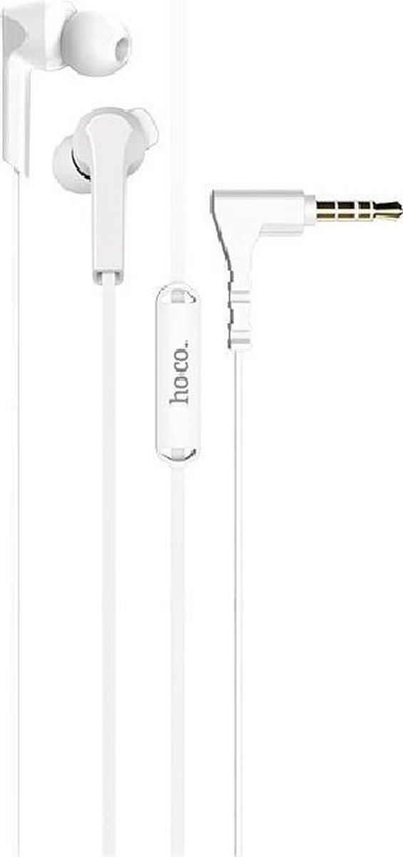 HOCO M72 Admire In-Ear Oordopjes – 3,5mm Audio-Jack Plug – 120cm Kabel – Hi-Res Audio + HD Microfoon – Wit