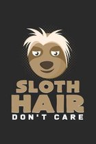 Sloth hair don't care: 6x9 Sloth - dotgrid - dot grid paper - notebook - notes