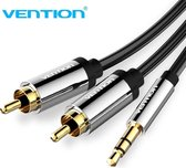 Vention 3.5mm Male Aux Jack naar 2 RCA Male Audio Kabel 1 meter