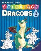 Mon premier livre de coloriage - Dragons 2 - nuit: Livre de Coloriage Pour les Enfants - 25 Dessins - Volume 2 - Edition nuit