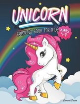 Unicorn Coloring Book for Kids Ages 4-8: Beautiful Collection of Over 50 Unicorn Coloring Pictures for Your Little Princes and Princesses