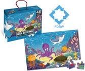 Puzzel Onderwaterwereld – Jumbo | Puzzel Vloerpuzzel | Vloerpuzzel kinderen 3 jaar – Zeedieren | Jumbo Puzzel | Kinderpuzzel – Vloerpuzzel – 48 stukjes | 90 cm x 60 cm