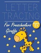 Letter Tracing for Preschoolers Giraffe: Letter a tracing sheet - abc letter tracing - letter tracing worksheets - tracing the letter for toddlers - A