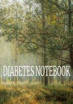 Diabetes Notebook: 7 x 10 Daily / Weekly Diabetes Log Sheet Notebook of Blood Sugar, Insulin, Carbs & Activity Levels Forest Cover (52 pa