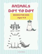 Animals Dot To Dot Books For Kids Ages 4-5