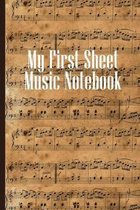 My First Sheet Music Notebook: Sheet music book DIN-A5 with 100 pages of empty staves for music students and composers to note music and melodies
