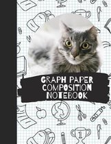 Graph Paper Composition Notebook: 5 Squares Per Inch / Graph Paper Quad Rule 5x5 / 8.5 x 11 / Bound Comp
