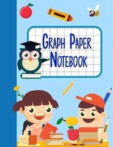 Graph Paper Notebook: Children's Math Graphing Paper Notepad with Large 1/2 inch Squares for Grades K-2 School Kids, 120 Pages 7.44'' x 9.69''