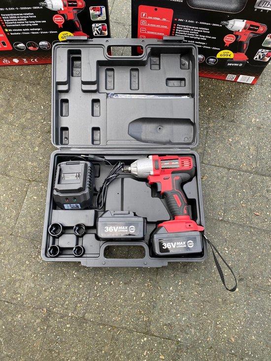Kraftmuller UMCW002 Draadloze slagmoersleutel 36V met 2 batterijen
