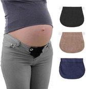 Zwangerschapsbroekverbreder|Cabantis|Broekverbreder|Riem|Zwart