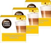 NESCAFÉ® Dolce Gusto® Latte Macchiato Vanilla Koffiecups - 3 doosjes à 16 capsules geschikt voor 24 koppen