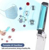 Beste handheld kiemdodende UV-lichtstaaf 2020 - MODEL : UV-500 - UV Sterilisator Mondkapje - Desinfectie - Ultraviolet C straling - Mini compacte UV Lamp - Doodt 99.9% bacteriën en virussen - Ontsmetter