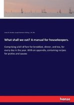 What shall we eat? A manual for housekeepers.