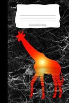 Composition Book: Giraffe Savannah Cover - Notebooks - Wide Ruled Line Paper - 120 Pages - Soft Cover