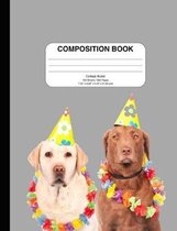 Composition Notebook with Dog (Labrador--wide ruled)