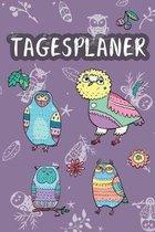 Tagesplaner: Terminplaner - Motiv: Florale Eulen - F�r Schule & Beruf - Planer 52 Wochen (12 Monate) Sch�ler & Lehrer - Jahresplane