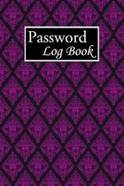 Password Log Book: Internet Password Logbook Large Print With Tabs - Violet Flower Pattern Background Cover