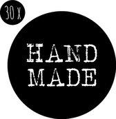 Sticker | HANDMADE | zwart-wit | 35 mm | 30x