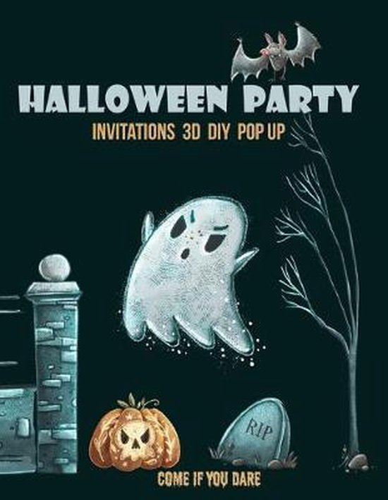 Boek cover Halloween party invitations 3d diy pop up: 20 invitations to trim, fold and create unique halloween invitations, for kids and adults. Includes tips of van Ecokidos (Paperback)