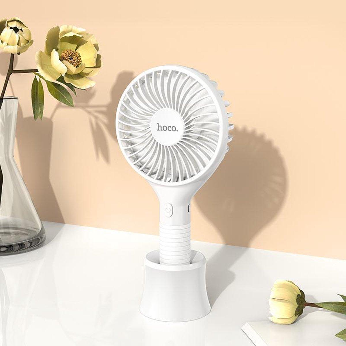 Hoco f13 draagbare ventilator Mini ventilator 3 standen usb oplaadbaar
