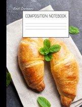 basil croissant Composition Notebook