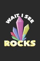 Wait I see rocks: 6x9 Minerals - grid - squared paper - notebook - notes