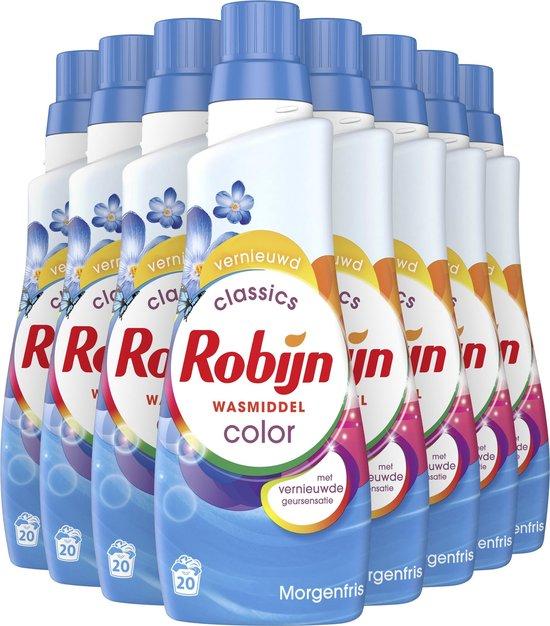Robijn Klein & Krachtig Morgenfris Color - 8 x 20 wasbeurten - Voordeelverpakking