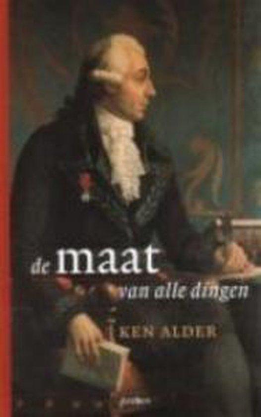 Cover van het boek 'De maat van alle dingen' van Ken Alder