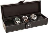 LA ROYALE CLASSICO Horlogebox - Zwart - Geschikt voor 5 horloges