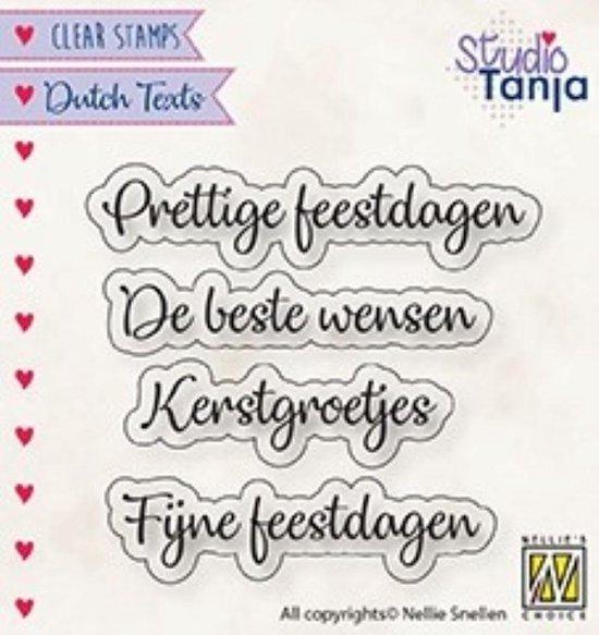 Bol Com Dtcs025 Clearstamp Dutch Texts Nellie Snellen Stempel Tekst Prettige Feestdagen