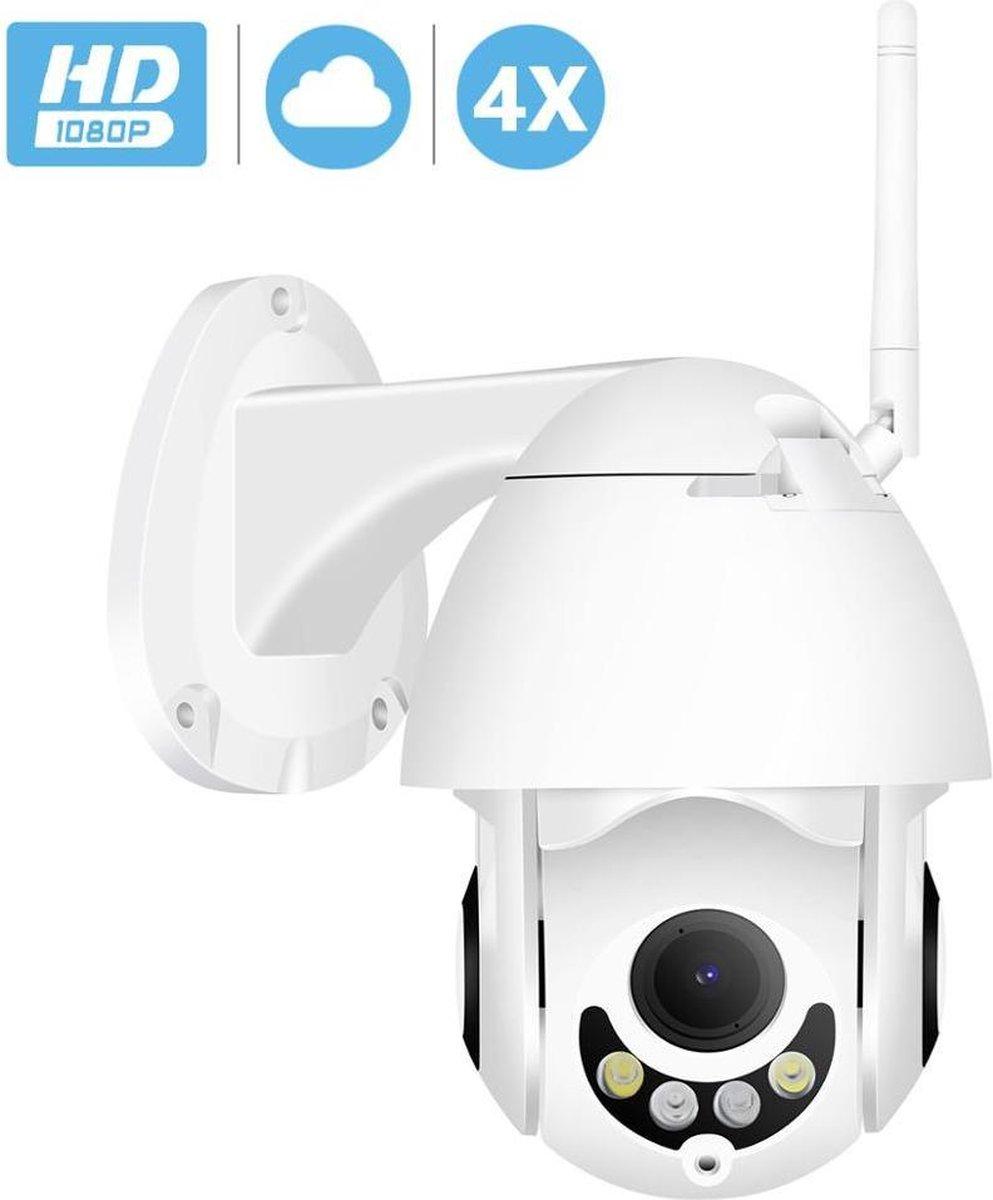 Beveiligingscamera - Via Smartphone - IP Camera - Met NightVision - CCTV - Wit