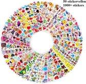 1000 stickers - 50 Stickervellen Voor Kinderen en Peuters - 3D Foam Stickers - Verschillende Sets - Mega Pack: superhelden, dieren, auto's, Hartjes, sterren, dino's,  Mickey Mouse, Winnie the Pooh, Peppa Pig, Minions, Frozen, Paw patrol, Disney