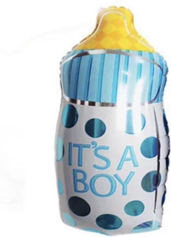 Baby-Fles-It's-A-Boy-Rondjes-Ballon