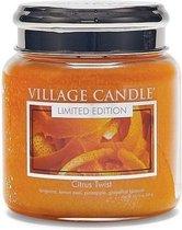 Village Candle Village Geurkaars Citrus Twist | manderijn citroenschil ananas grapefruitbloesem - medium jar