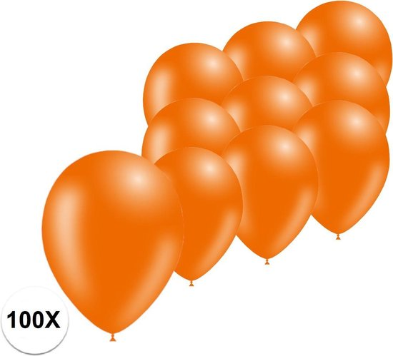 Oranje Ballonnen 100st Feestversiering EK Koningsdag WK Verjaardag Ballon