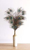 Pauwenveren - 10 stuks - 90-100 cm - Decoratie pauwen veren