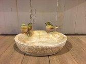 Voerbakje voor vogels - Vogeldrinkschaal - Vogelbadje met vogeltjes