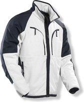 Jobman 1245 Fleece Jacket - Wit/Zwart - Maat XL