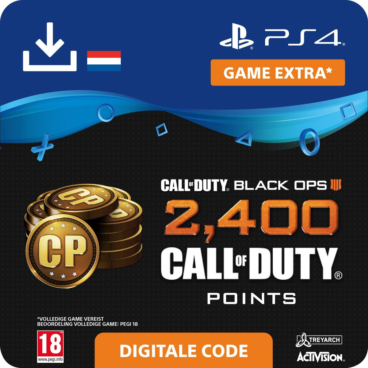 Call of Duty Black Ops 4 - digitale valuta - 2400 Call Points - NL - PS4 download