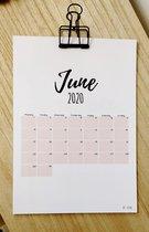 Maand kalender/planner I met klem