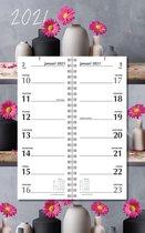 Afbeelding van Omleg weekkalender MGPcards 2021 - Omlegkalender - 2 weken overzicht - Gerbera - 21 x 34 cm
